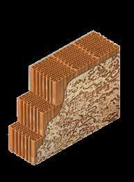 Кладка стены из керамических блоков KAIMAN 30 с декоративной фасадной штукатуркой
