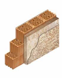 Кладка стены из керамических блоков KERAKAM 25 с утеплителем декоративной фасадной штукатуркой