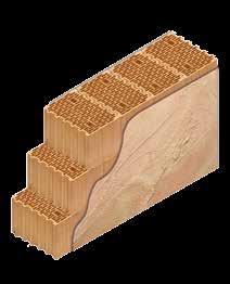 Кладка стены из керамических блоков KERAKAM 38 Thermo с декоративной фасадной штукатуркой