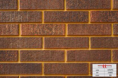 Кладка из облицовочного кирпича Mattone «Латерра Графит» 1НФ